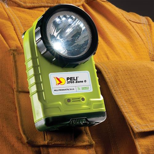 Peli 3765 Right Ange lamp, Atex Z0, geel