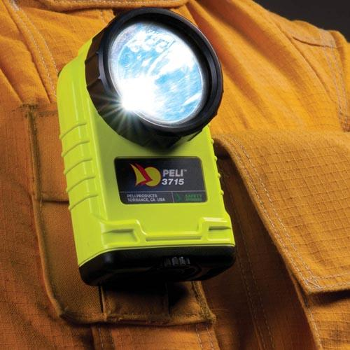Peli 3715 Right Angle lamp, Atex Z0, geel